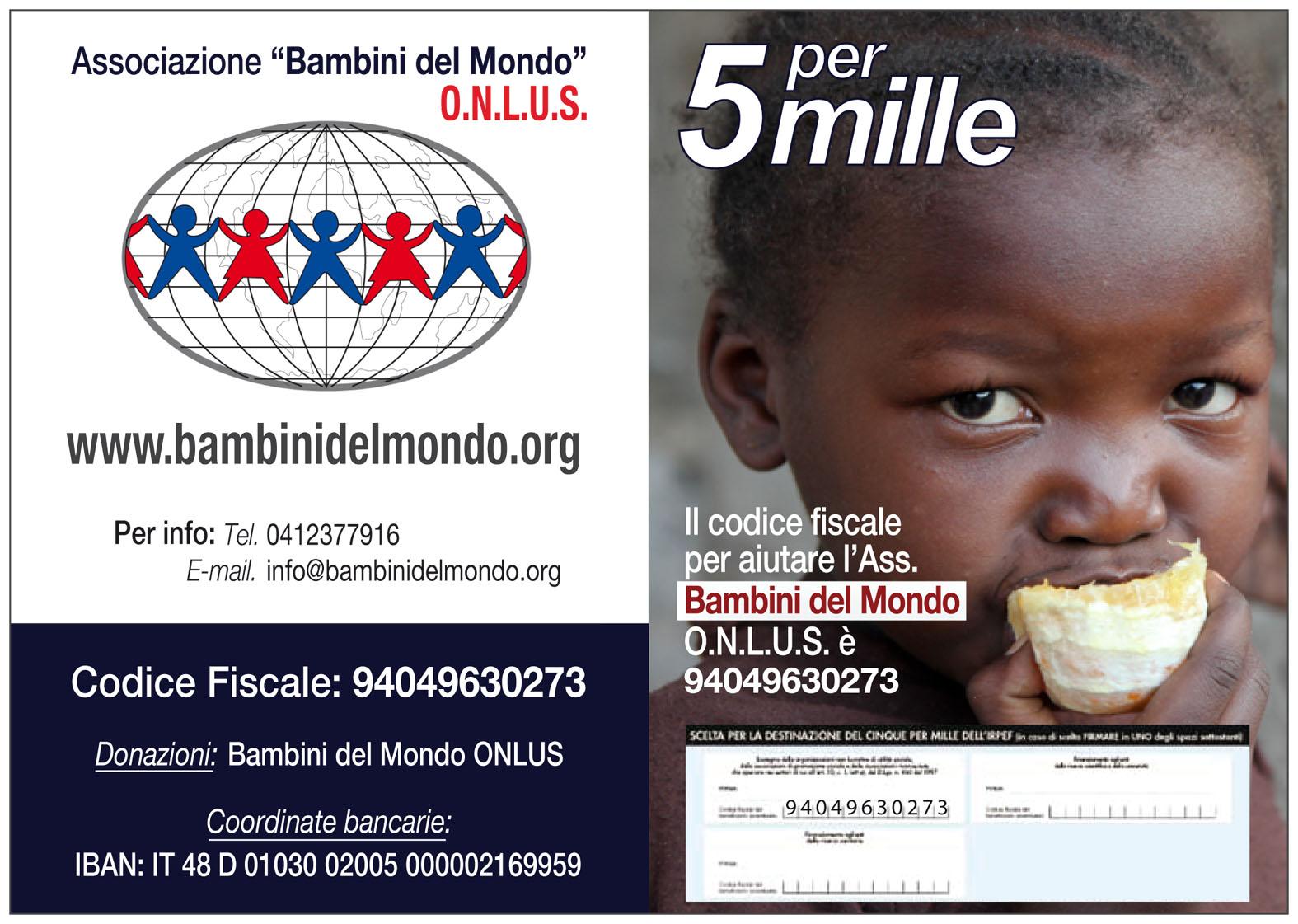 5 per mille Bambini del Mondo ONLUS