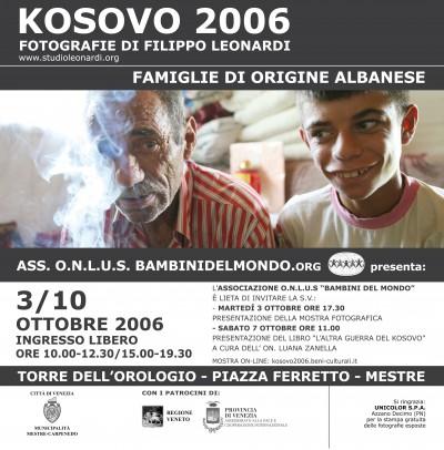 mostra fotografica kosovo 2006